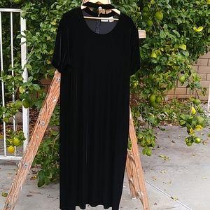 The Fashion Bug Polyester Black Velvet Dress.